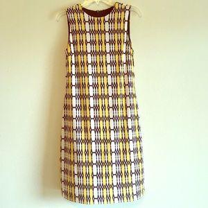 Karen Kane Shift Stretch Sleeveless Retro Dress
